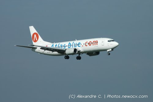 Photo avion CN-RNA : Boeing 737 de la compagie Atlas Blue (Paris Orly (LFPO))