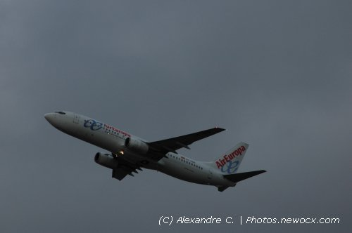Photo avion EC-HBM : Boeing 737 Next Gen de la compagie Air Europa (Paris Orly (LFPO))