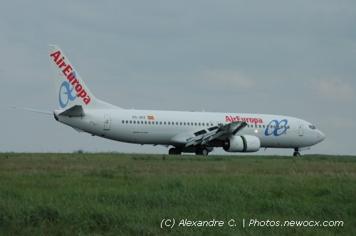 Photo avion EC-JKZ : Boeing 737 Next Gen de la compagie Air Europa (Paris Charles de Gaulle (LFPG))