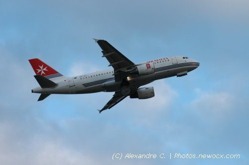 Photo avion 9H-AEJ : Airbus A319 de la compagie Air Malta (Paris Orly (LFPO))