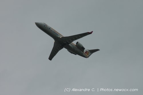 Photo avion EC-HHV : Canadair Regional Jet de la compagie Air Nostrum (Paris Orly (LFPO))