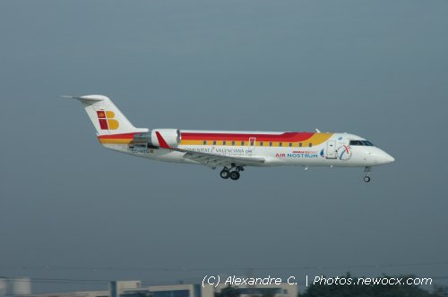 Photo avion EC-HYG : Canadair Regional Jet de la compagie Air Nostrum (Paris Orly (LFPO))