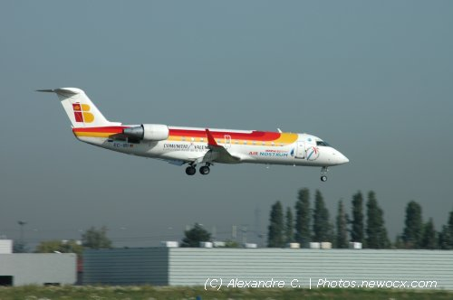 Photo avion EC-IRI : Canadair Regional Jet de la compagie Air Nostrum (Paris Orly (LFPO))