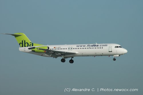 Photo avion D-AGPF : Fokker 100 de la compagie Fly DBA (Paris Orly (LFPO))