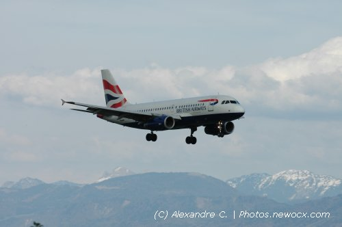 Photo avion G-EUOG : Airbus A319 de la compagie British Airways (Geneva Geneve-Cointrin (LSGG))