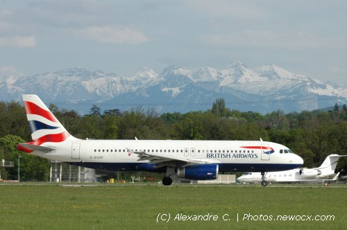 Photo avion G-EUUF : Airbus A320 de la compagie British Airways (Geneva Geneve-Cointrin (LSGG))