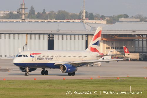 Photo avion G-EUUN : Airbus A320 de la compagie British Airways (Geneva Geneve-Cointrin (LSGG))