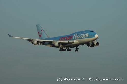 Photo avion F-HSEA : Boeing 747 de la compagie Corsair (Paris Orly (LFPO))