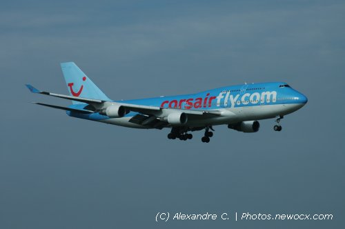Photo avion F-HSEX : Boeing 747 de la compagie Corsair (Paris Orly (LFPO))