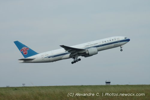 Photo avion B-2062 : Boeing 777 de la compagie China Southern Airlines (Paris Charles de Gaulle (LFPG))