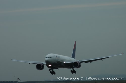 Photo avion N-862DA : Boeing 777 de la compagie Delta Airlines (Paris Charles de Gaulle (LFPG))