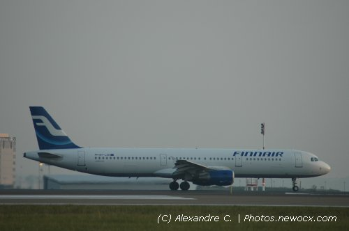 Photo avion OH-LZE : Airbus A321 de la compagie Finnair (Paris Charles de Gaulle (LFPG))