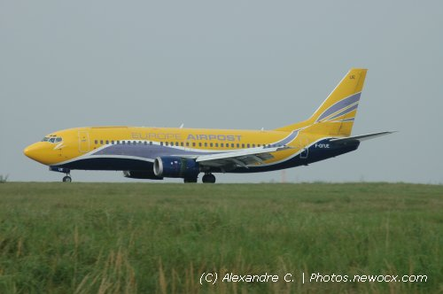 Photo avion F-GFUE : Boeing 737 de la compagie Europe Airpost (Paris Charles de Gaulle (LFPG))