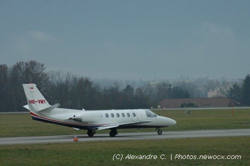 Photo avion HB-VMY : Cessna 550B Citation Bravo de la compagie Jet Aviation (Geneva Geneve-Cointrin (LSGG))