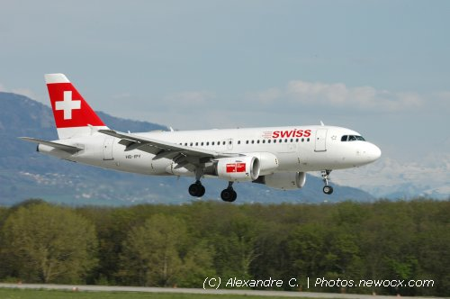 Photo avion HB-IPY : Airbus A319 de la compagie Swiss International Airlines (Geneva Geneve-Cointrin (LSGG))
