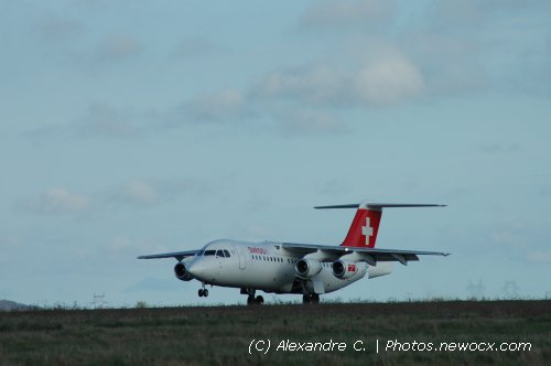 Photo avion HB-IYZ : BAe 146  Avro RJ de la compagie Swiss International Airlines (Paris Charles de Gaulle (LFPG))