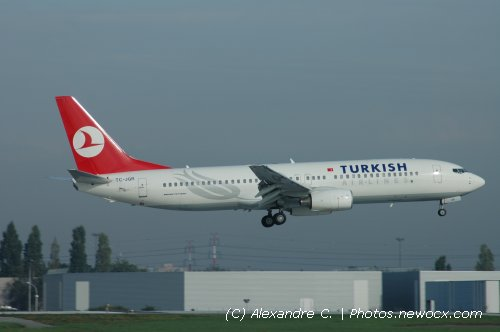 Photo avion TC-JGR : Boeing 737 Next Gen de la compagie Turkish Airlines (Paris Orly (LFPO))