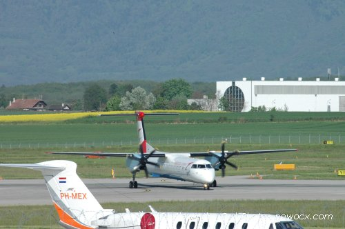 Photo avion OE-LGE : Dash 8 de la compagie Austrian Arrows (Geneva Geneve-Cointrin (LSGG))