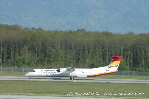 Photo avion OE-LGF : Dash 8 de la compagie Austrian Arrows (Geneva Geneve-Cointrin (LSGG))