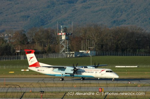 Photo avion OE-LGH : Dash 8 de la compagie Austrian Arrows (Geneva Geneve-Cointrin (LSGG))