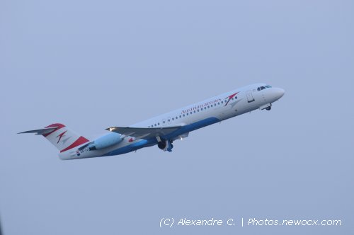 Photo avion OE-LCH : Fokker 70 100 de la compagie Austrian Arrows (Bruxelles (EBBR))