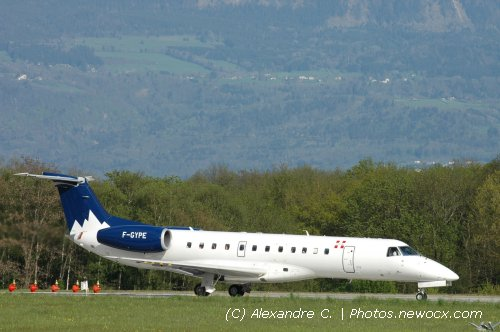 Photo avion F-GYPE : Embraer 135LR de la compagie Hex'Air (Geneva Geneve-Cointrin (LSGG))